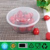 Transparent Round Plastic Container for Take away Food 800ml