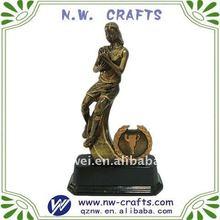 Resina rugby figura estatua de fútbol