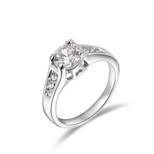 2015 Best selling Fashion Jewelry 925 Sterling Silver ring with diamond