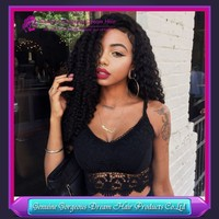 6A Peruvian hair wigs deep curl glueless full lace wigs natural color for african american
