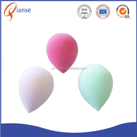 Top sale Colorful Free Sample Egg Shaped Water Drop Make up beauty Sponge baby powder puff with long handle