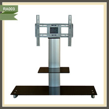 Solid and Tempered Glass LED TV Stand With TV Bracket RA003