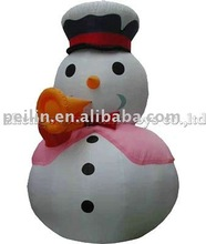 Inflatable holiday decoration Snowman with trumpet