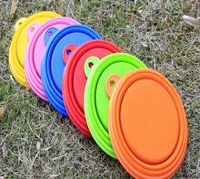 Soft Food Grade Safe Silicone Folding Dog Feeding Bowl Silicone Pet Bowl