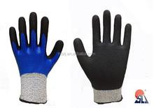 SLJsafety two lays nitrile foam coated work glove