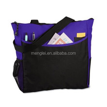 2015 purple 600d polyester bag foldable shopping bag promotion tote bag