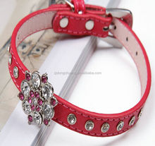 Popularity nice pu leather dog collars and leashes pet products puppy goods