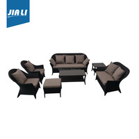 Fine appearance factory directly rattan dining chair and table