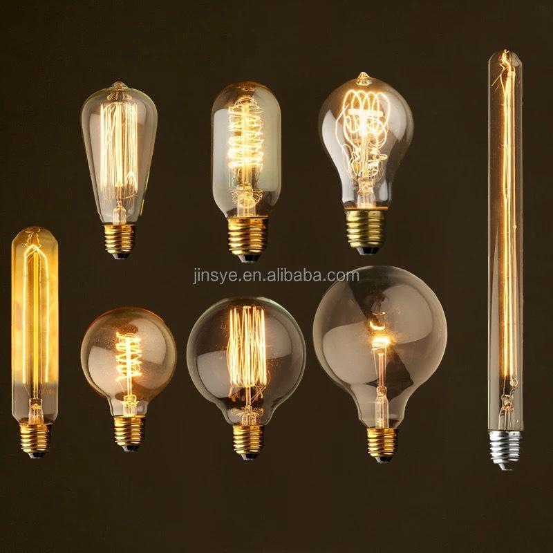 Wholesale Bulb Filament E27 Vintage Edison Light Bulb 100w Edison Bulb Vintage Decorative Light