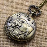 Strong Cow Bull Quartz Pocket Watch Men Women Souvenir Gift P402