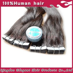 Most Popular New Arrival Full Ending Thick Hair Very Strong Adhesive Blue Tape Hair Extension