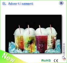 El annonces pour boisson / restaurant EL publicité affiches / slogan EL éclairage affiches