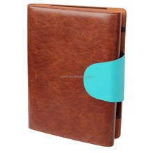 iPad Zippered leather Padfolio with Writing Pad Holder fit Letter Size A5 Note Pad