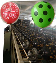 zhanhongtoy 1side 5color balloon printing machine or 5side 1color or 1side 1color balloon printing machine