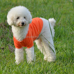 Cute Pet Dog Apparel Clothes Clothing Shirt Solid 100% Cotton POLO T-Shirt Orange