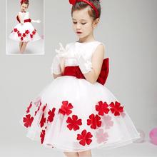 HJL-K1021 Wholesale children's boutique clothing 2015 summer Korean girls fashion wedding dress with belt