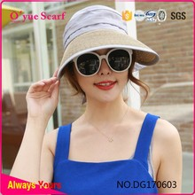 Wholesale Customed Paper Straw Visor Cap