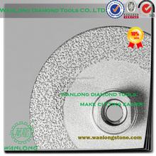 high efficiency vacuum brazed 3 inch diamond cutting wheel for stone grinding,small diamond grinding wheel manufacturer