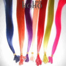 heat resistant synthetic fresh colors pre bonded hair