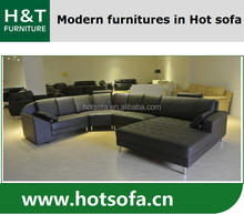 Large sectional lounge suite leather sofa, leather lounge suite with side pillows, white leather sofa design
