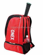 red badminton racket bag backpack 1680D backpack shoulder bag with high quality and useful design