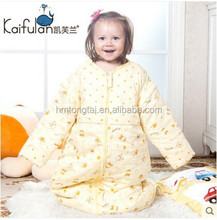 100% cotton baby child anti kicking sleeping bag detachable sleeve and detachable fillings quilt for four seasons