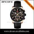 2015 china alibaba venta al por mayor de los hombres reloj de lujo, de cuero para hombre reloj, reloj para los hombres