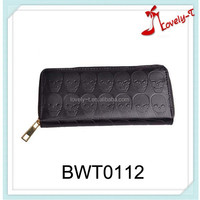 New arrival leather wallet manufacturer skeleton ladies leather purse ,wallet women leather purse