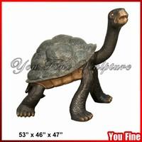 Casting Metal Walking Outdoor Decorative Bronze Tortoise Statue