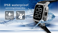 SNOPOW W1S 3G transflective screen IP68 waterproof android 4.4 dual core 1G RAM 8GROM dual core android watch phone