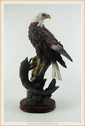 High Quality White Eagle Carving Sculpture Abstract Outdoor Eagle Sculpture for sale