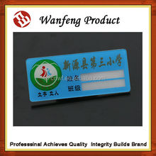 Wholesale 2015 Top Eco-Friendly Name Tag Type Magnetic Chrome Plating Hard Plastic Sliver Name Badge