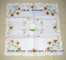 flowers design cutwork table cloths