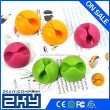 Different Colors Silicone Material Adhesive Cable Clip