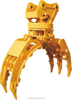 hydraulic and mechanical wood grapple. steel grapple ect for excavator