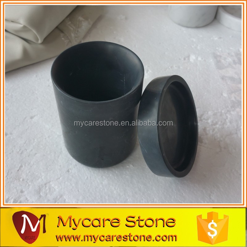 Natural stone nero marquina black marble candle cup buy for Natural stone coffee mugs