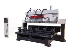 6 head wood router machine 4 axis, 4 axis wood router for indoor furniture, wood cnc routing machine rotary
