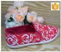 Moda rojo zapatos de lona para mujeres