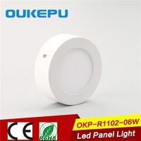Aluminum Alloy lamp body 3w 6w 9w 12w 15w 18w 24w round led panel light, led down light