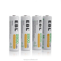 Wholesale EBL High Capacity 2800mAh AA Ni-MH Rechargeable Batterie, 1500 Cycle