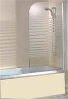 Portable Tempered Glass Shower Screen on Bathtub