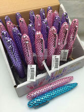 Popular wholesale fashion colorful bling gift rhinestone pen cute ball pen