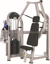 Oval tube seated chest press commercial fitness gym equipment
