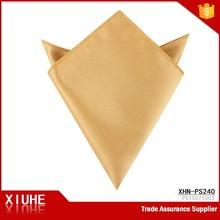 Handmade popular mens yellow cheap suit hankerchief