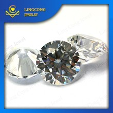 Wuzhou factory wholesale price sell 2.0mm diamond cut round gemstone