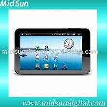 tablet pc,mid,Android 2.3,Cotex A9,1.2Ghz,Build in 3G,WIFI GPS,Bluetooth,GSM,WCDMA,Call Phone,sim card slot