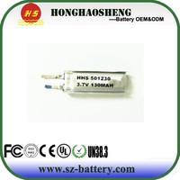 China top sale 501230 lithium battery 3.7v 130mah lipo battery