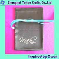 Shoe and bag Custom satin drawstring shoe bag with printed logo OEM/ODM Manufacturer supply