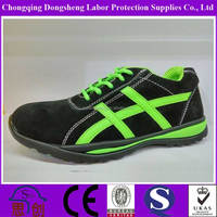 Green LEATHER CASUAL SAFETY SHOE STEEL TOE CAP WORK TRAINERS HIKING CASUAL BOOTS SHOES 5-12UK