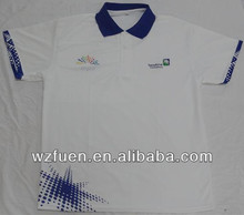 school fashion 100% cotton polo T-shirt for students